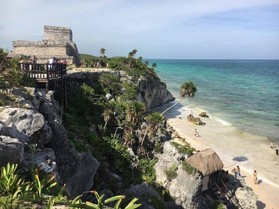 curly nomad mexico tulum beach image