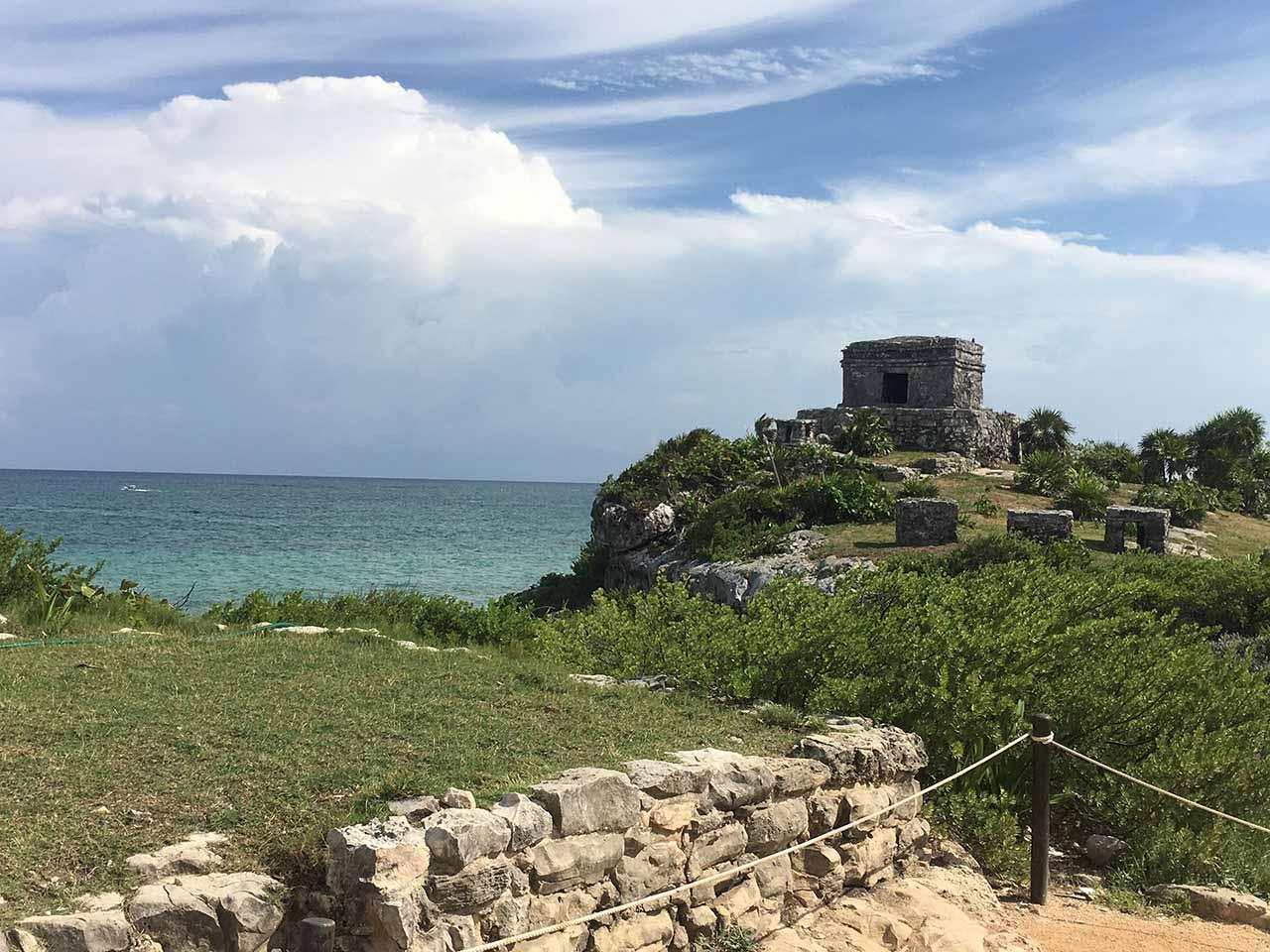 curly nomad mexico tulum castillo image