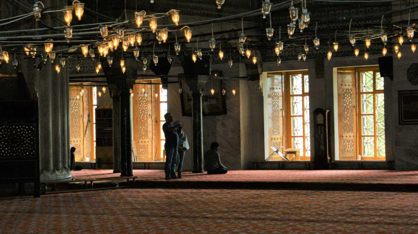 curlynomad sultanahmet camii turkey istanbul inside blue mosque serenity photo