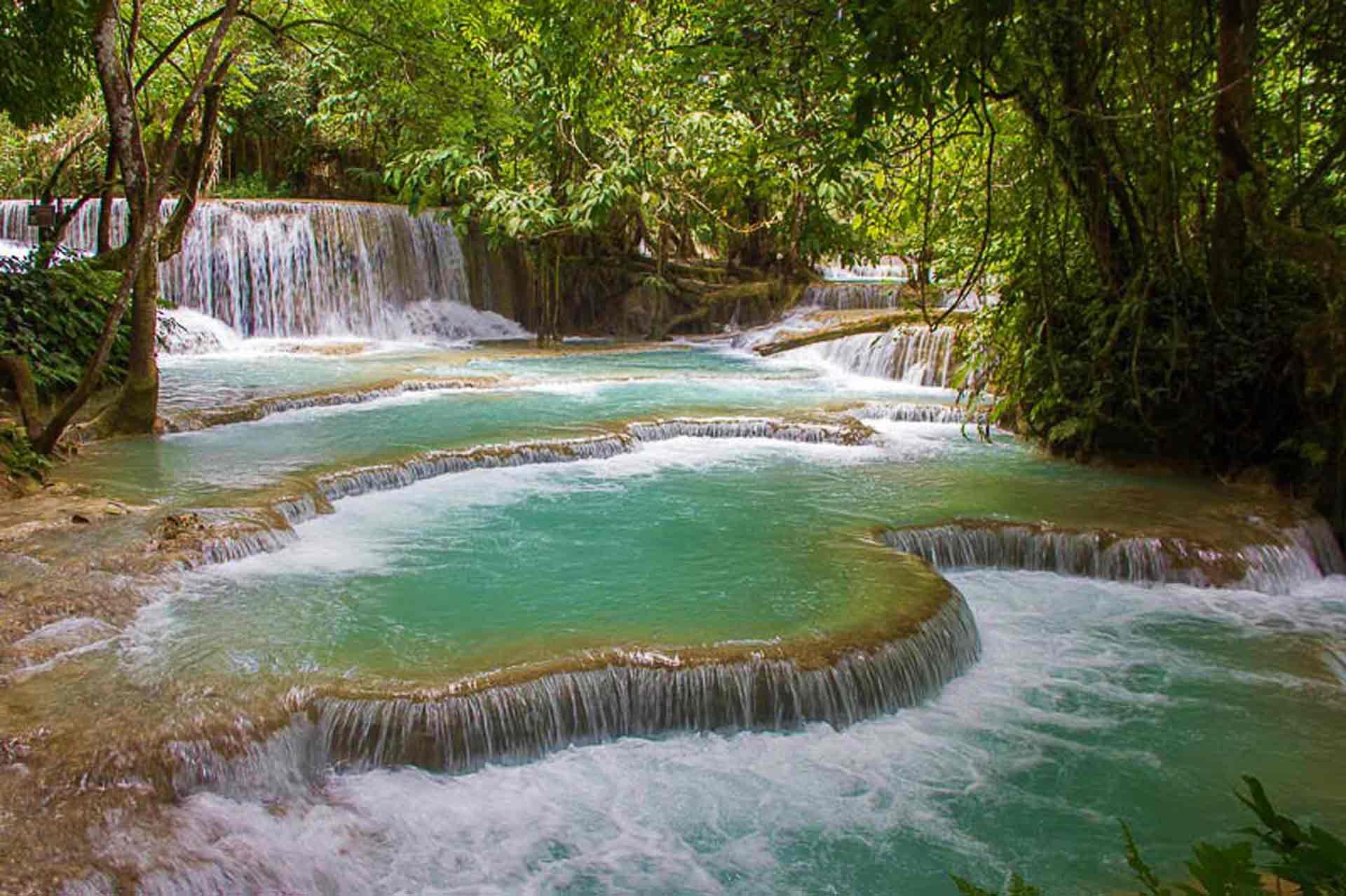 curly nomad lao luang prabang kuangsi pools photo