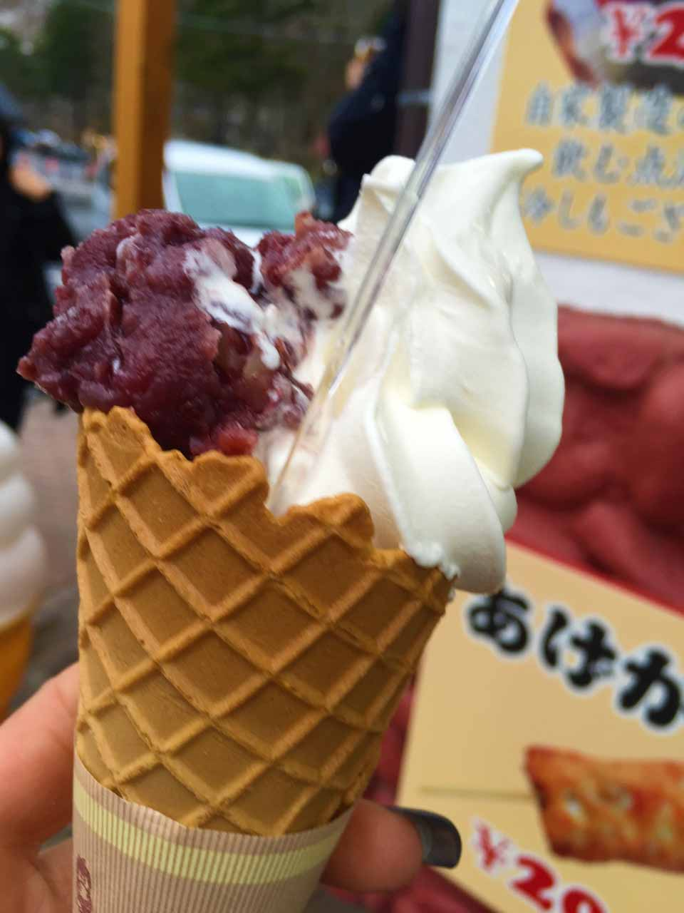curly nomad asia japan nara ice cream black beans foodie's heaven photo