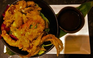 curly nomad asia japan nara soft shell crab foodie's heaven photo