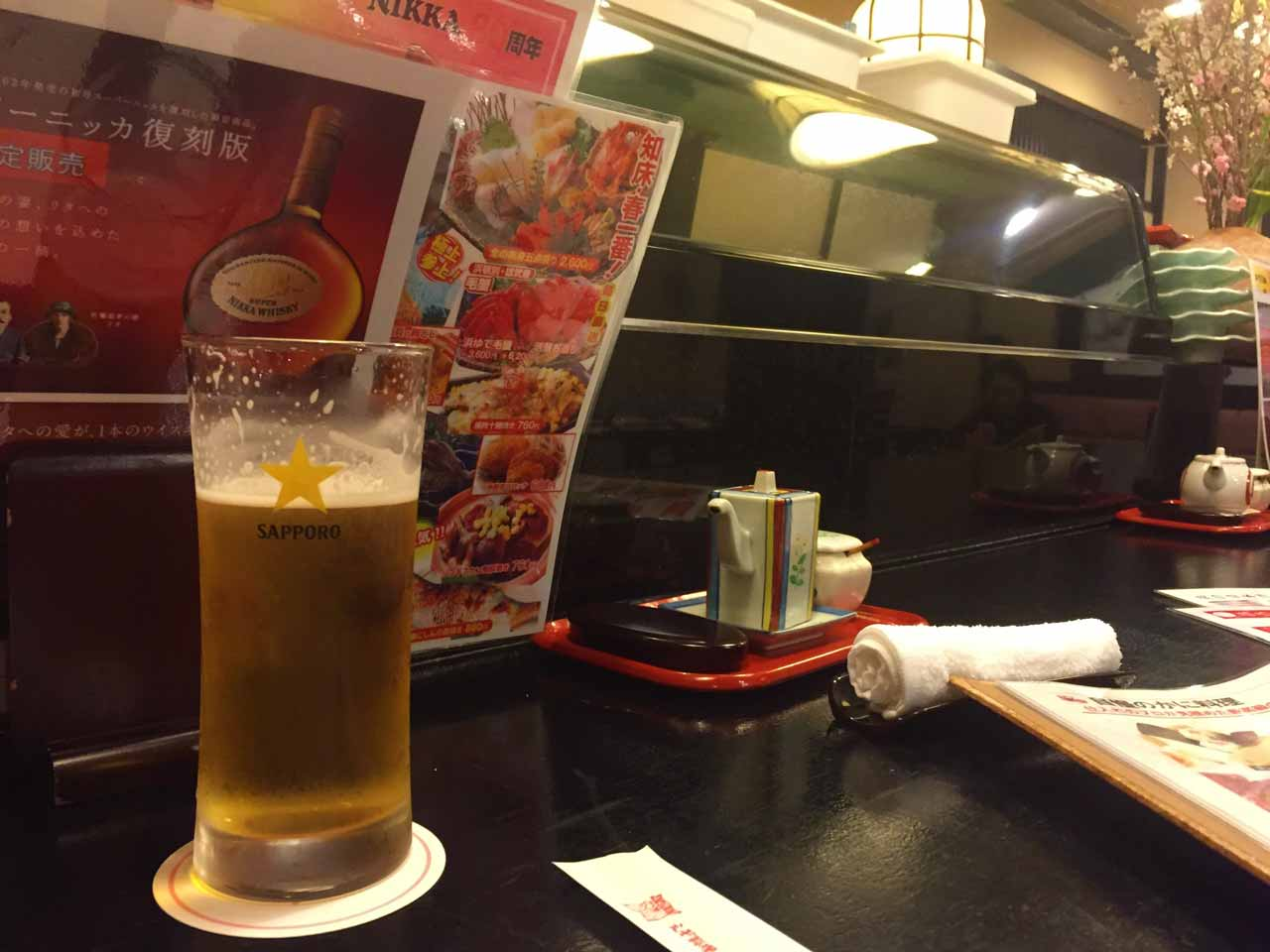 curly nomad asia japan nara sushi beer foodie's heaven photo