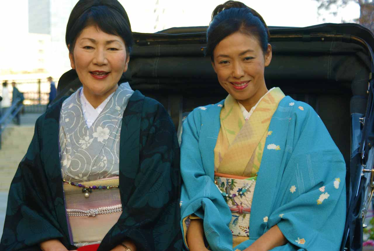 curly nomad asia japan smiling ladies geisha image