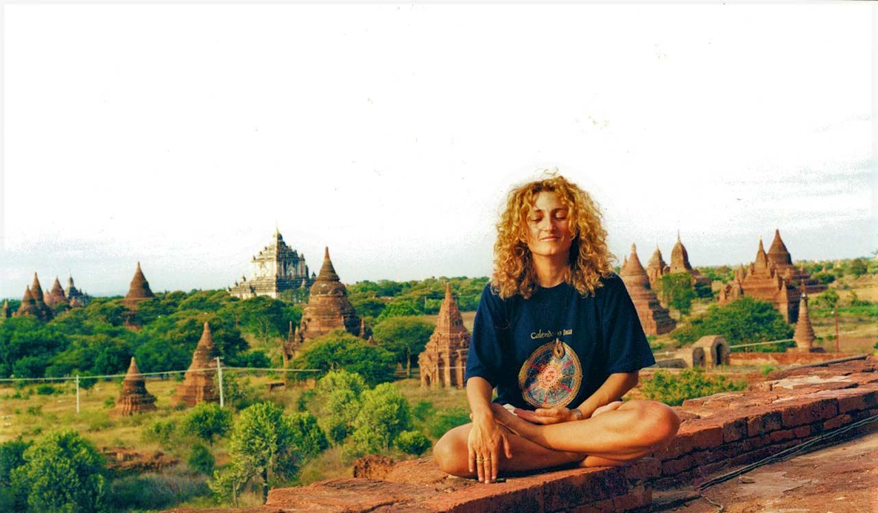curly nomad asia myanmar burma lotus position bagan photo