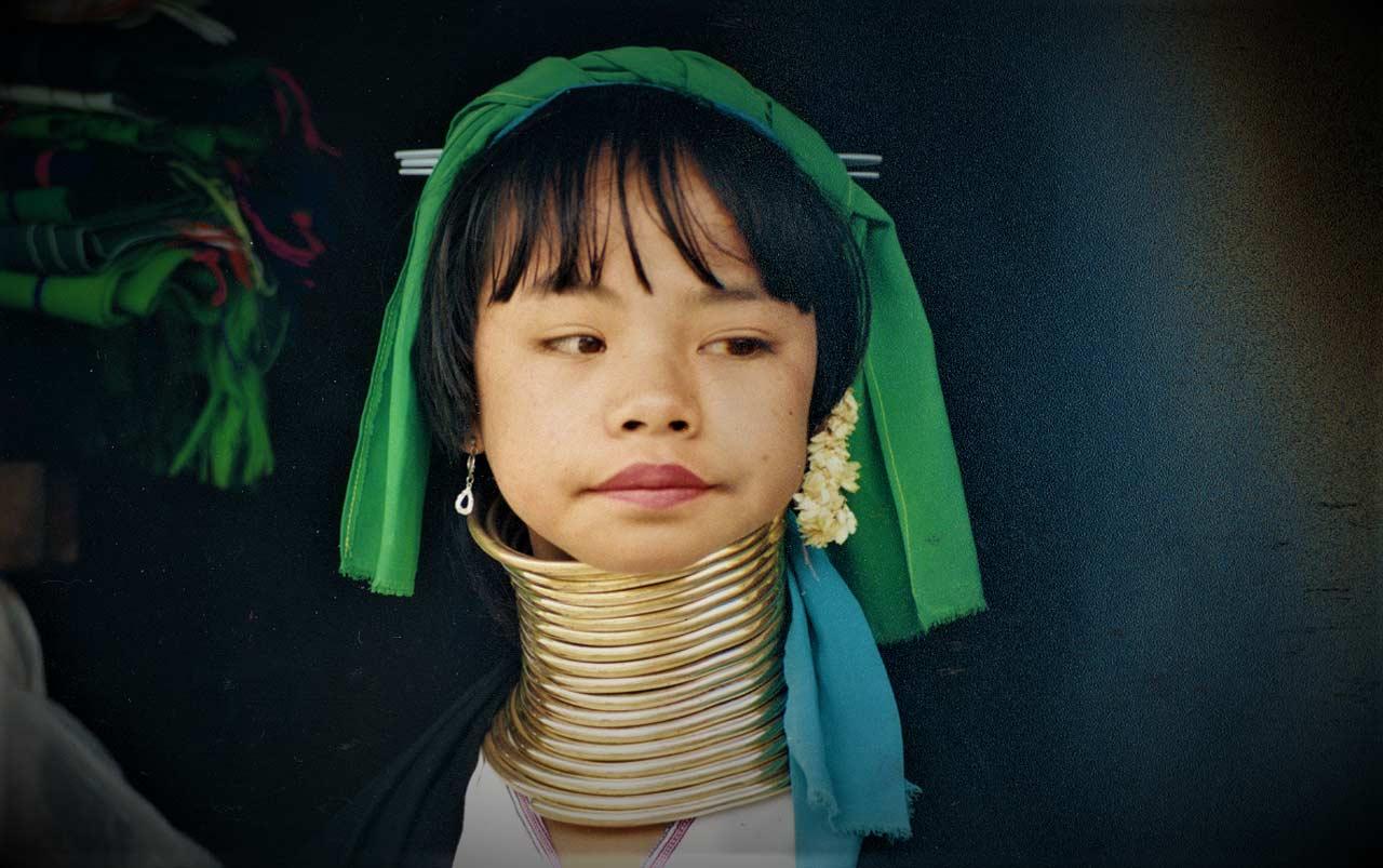 curly nomad asia myanmar burma long neck girl photos